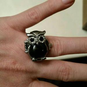 Owl ring watch